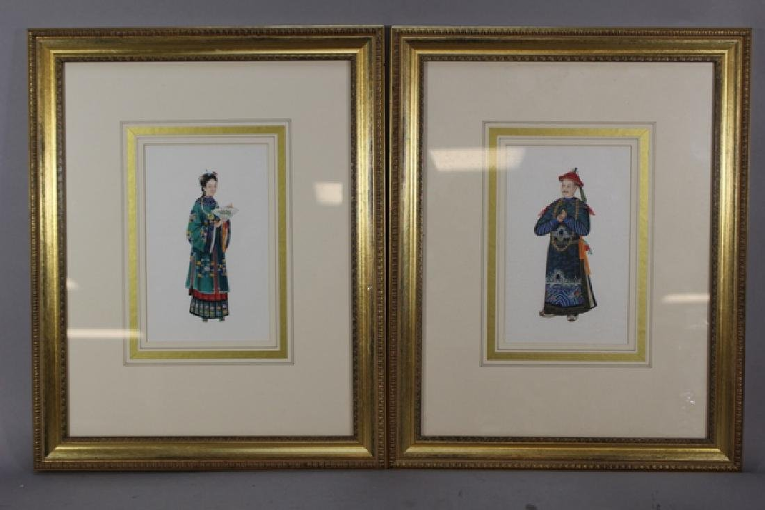 Two Framed Chinese Figure Studies