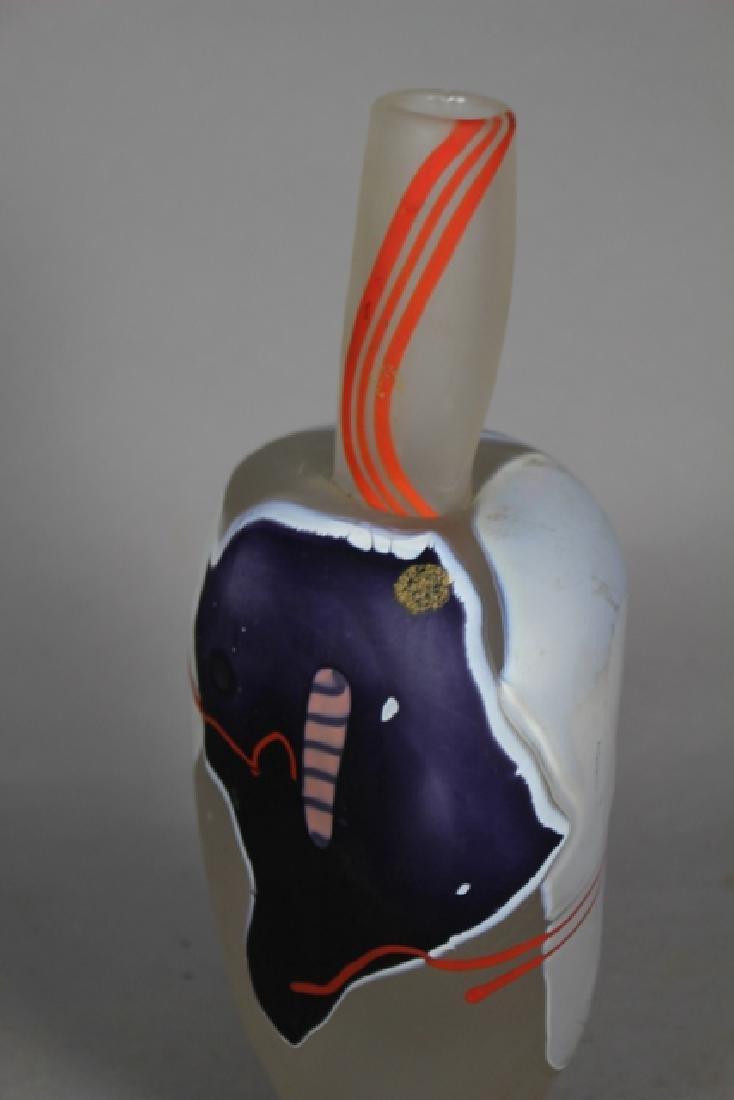 James R. Wilbat Art Glass Vase - 3
