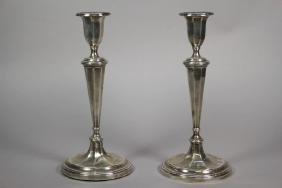 Alexander Clark & Co. Weighted Sterling Candlesticks