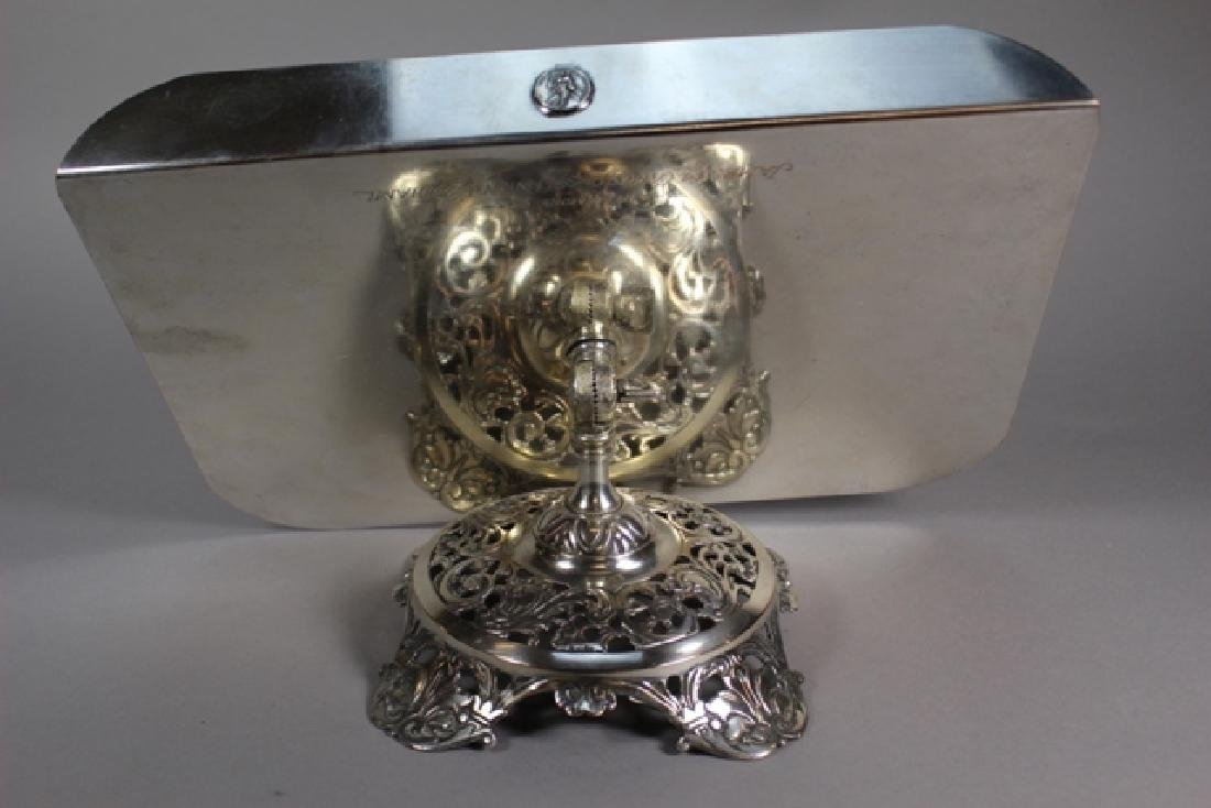 Signed B&H Silver-Plate Lectern Book Holder