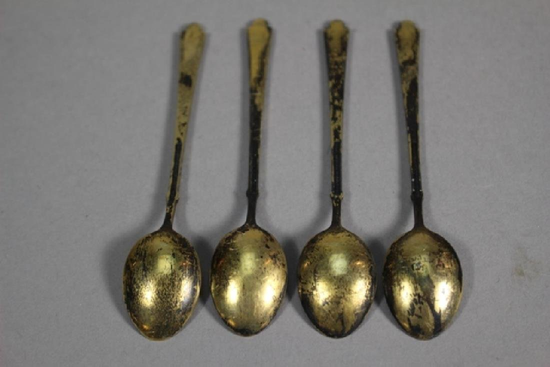 Set of Four Ela Denmark Enameled Sterling Spoons - 5