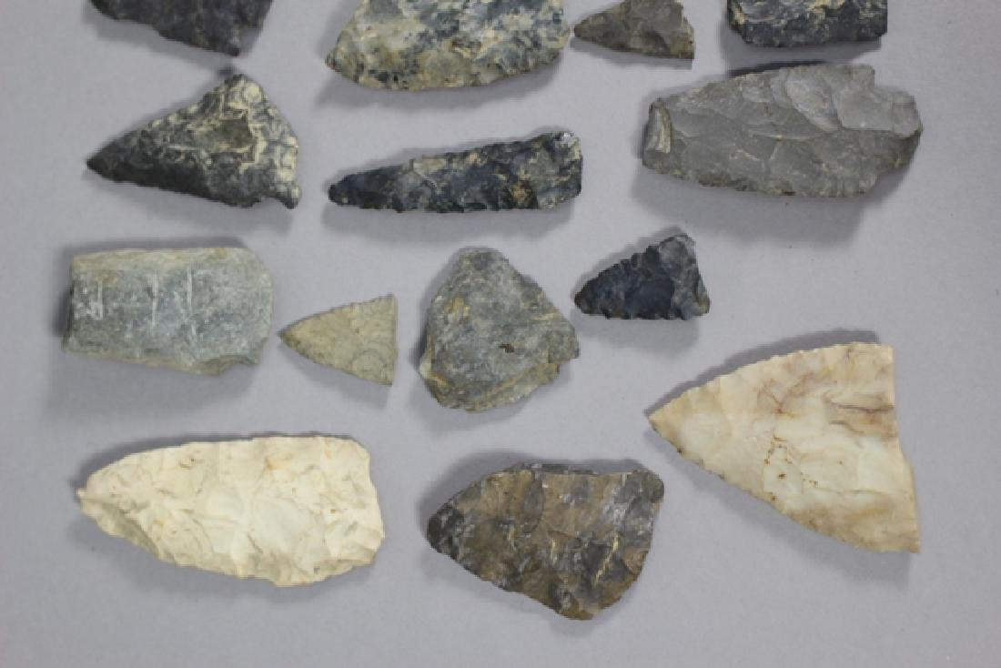 Lot of 48 Native American Arrowheads and Points - 2