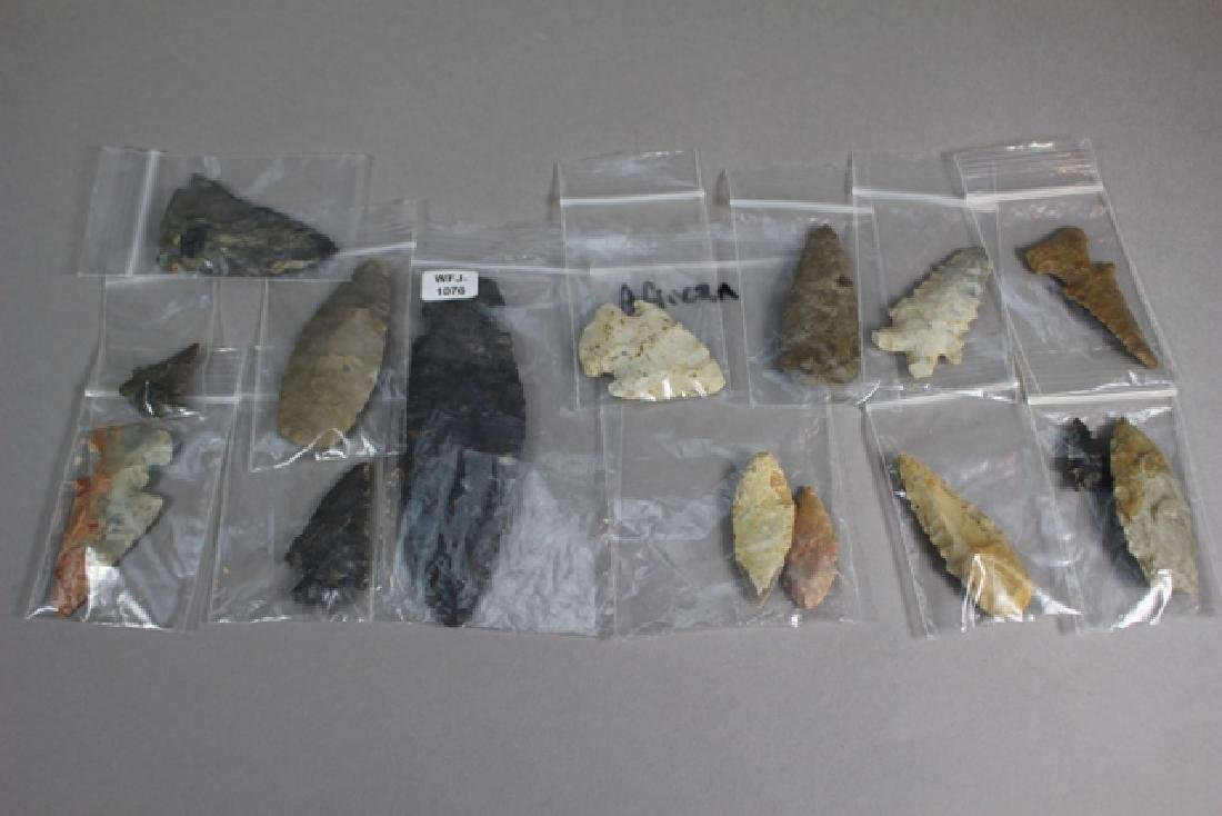15 Native American & African Arrowheads and Points