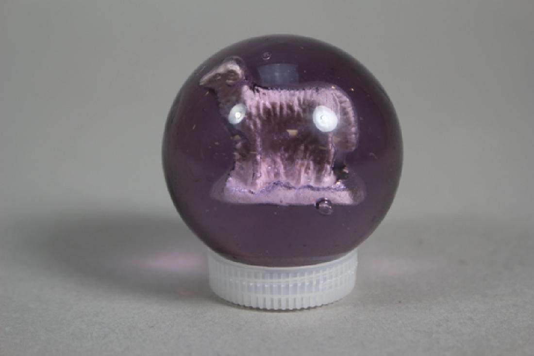 Ram Figure Lavender Sulfide Marble