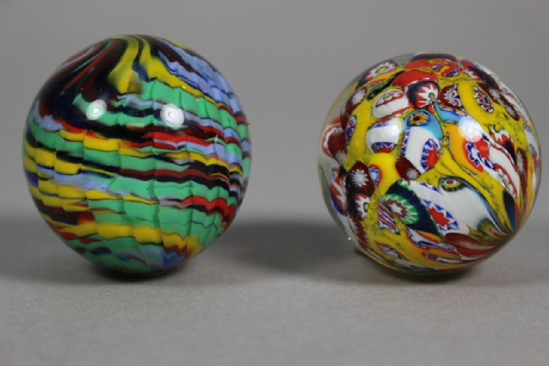 Two Hand Blown Art Glass Marbles