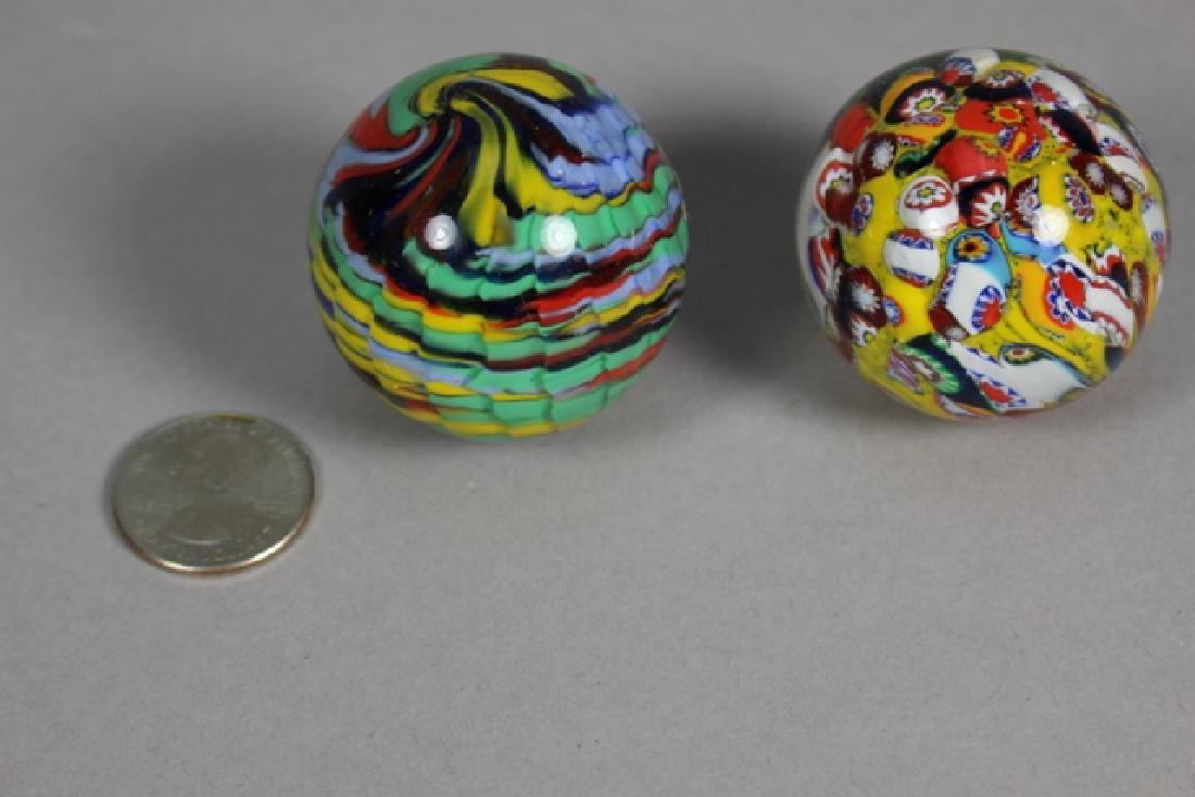 Two Hand Blown Art Glass Marbles - 2