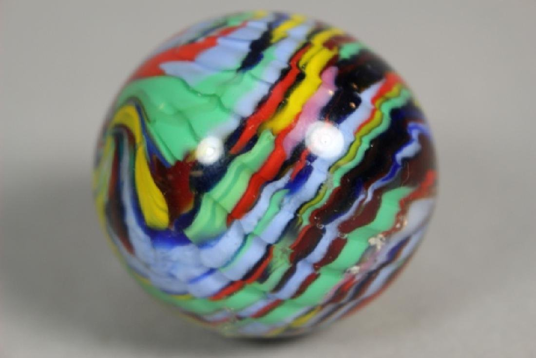 Two Hand Blown Art Glass Marbles - 3