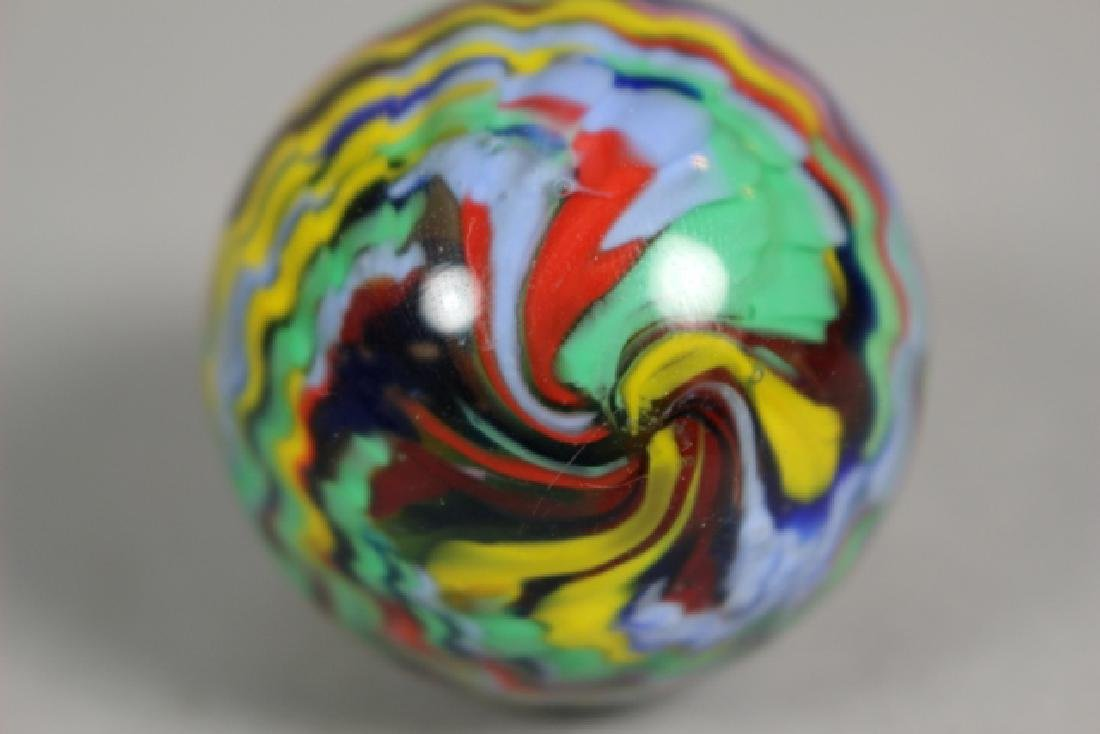 Two Hand Blown Art Glass Marbles - 4