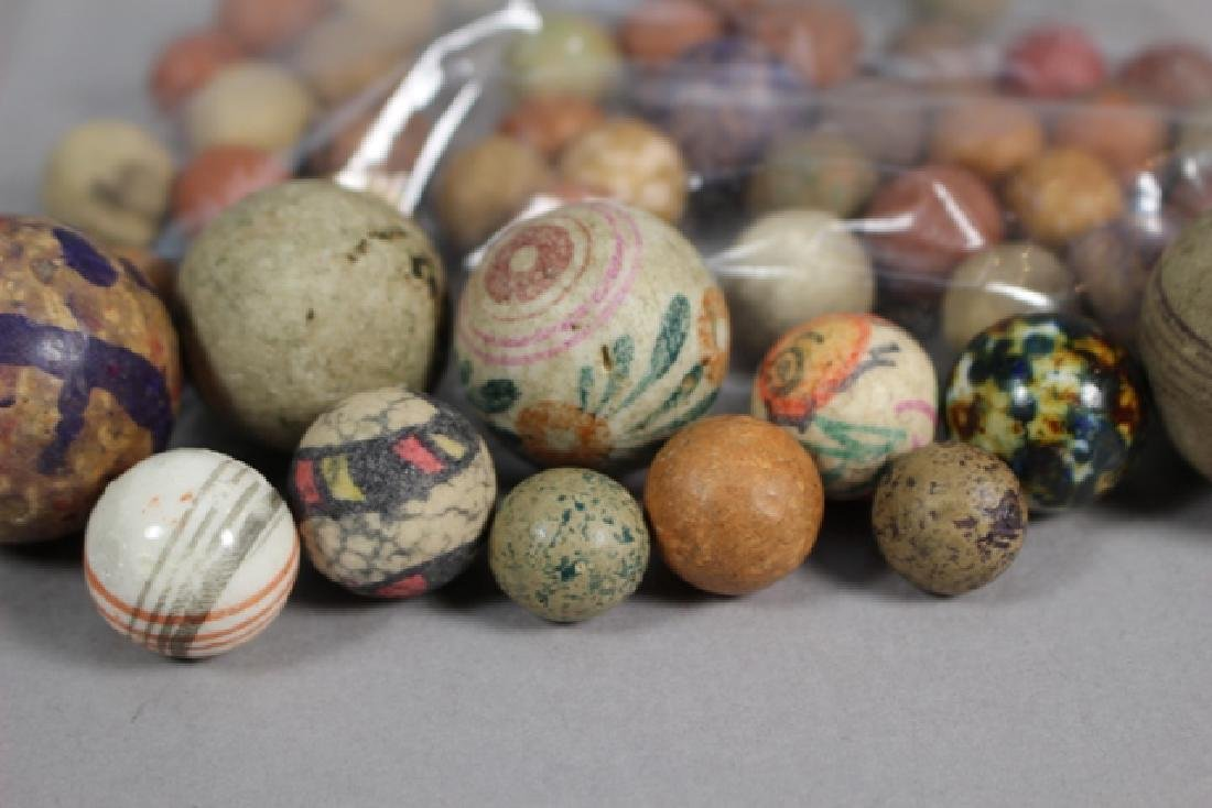 Collection of 40+ Antique Clay Marbles - 2