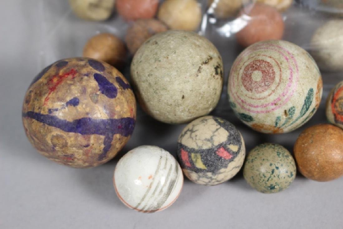 Collection of 40+ Antique Clay Marbles - 3