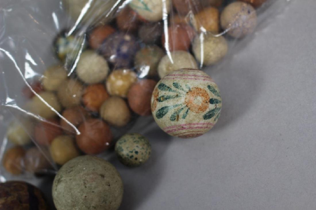 Collection of 40+ Antique Clay Marbles - 6