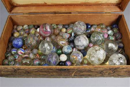 Collection Lot of Assorted Damaged Marbles
