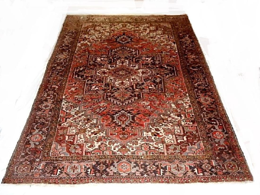 Large Semi-Antique Persian Heriz Carpet