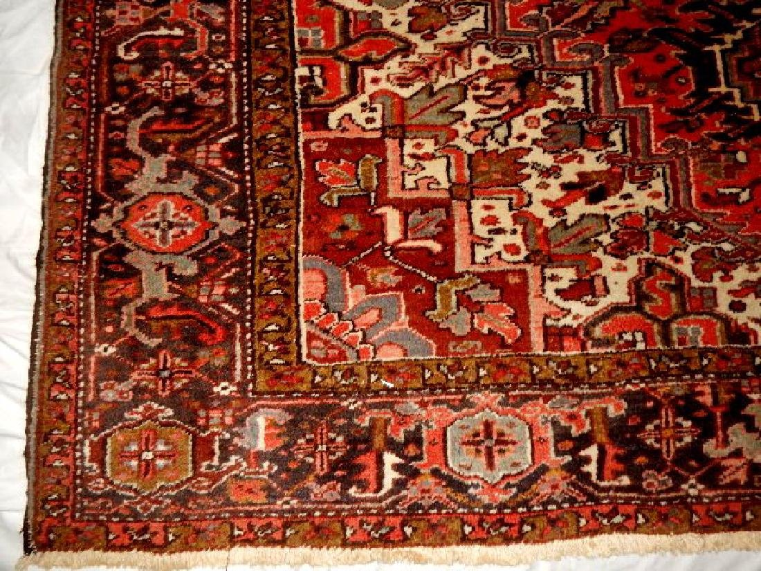 Large Semi-Antique Persian Heriz Carpet - 3