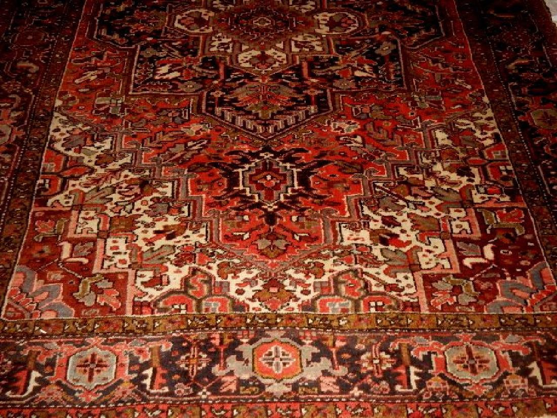 Large Semi-Antique Persian Heriz Carpet - 4