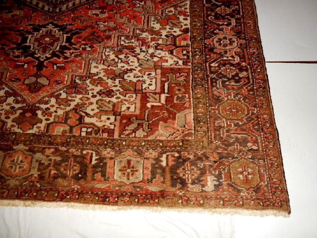Large Semi-Antique Persian Heriz Carpet - 6