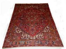 Large Semi-Antique Persian Heriz Carpet