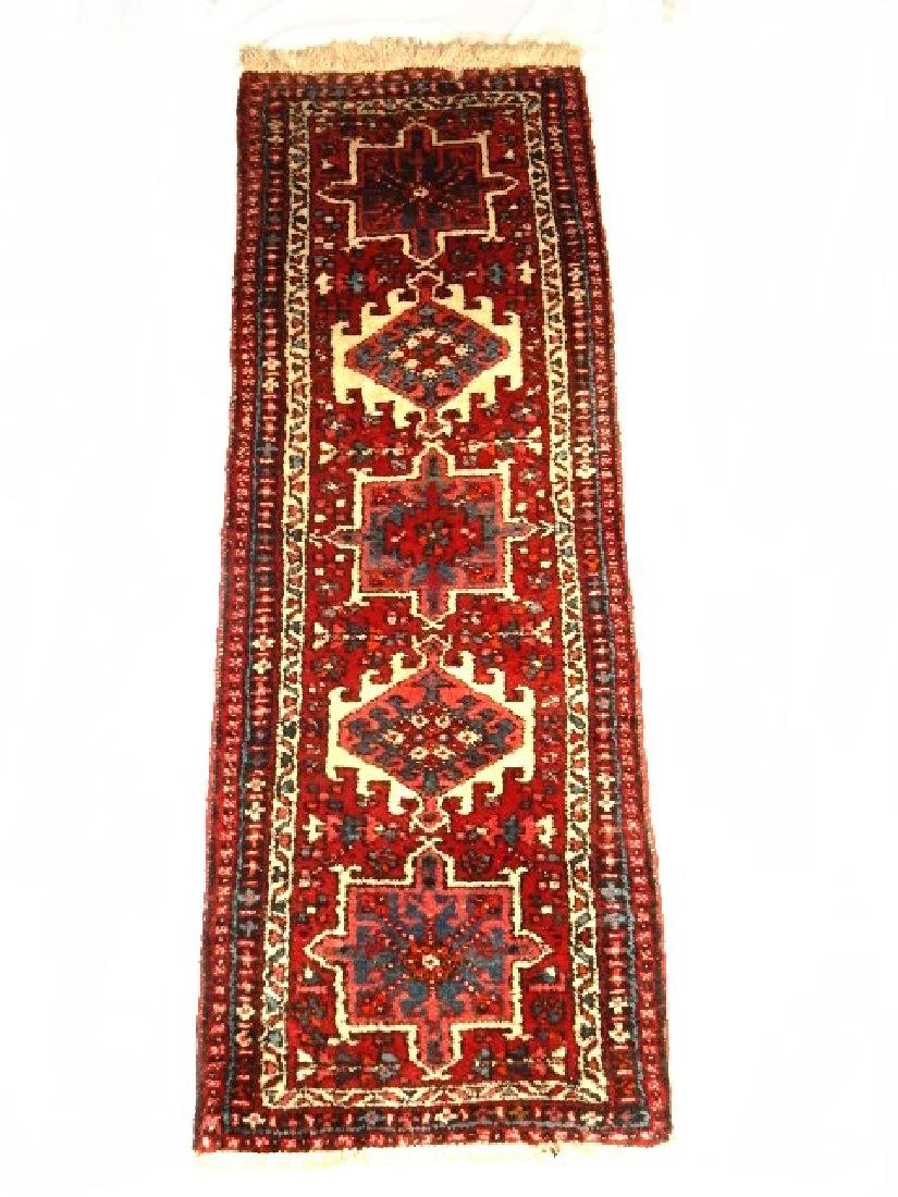 Semi Antique Persian Karajeh Heriz Rug