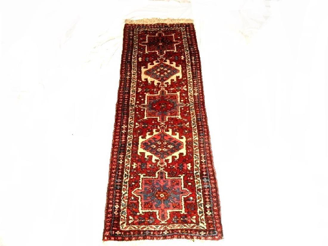 Semi Antique Persian Karajeh Heriz Rug - 5