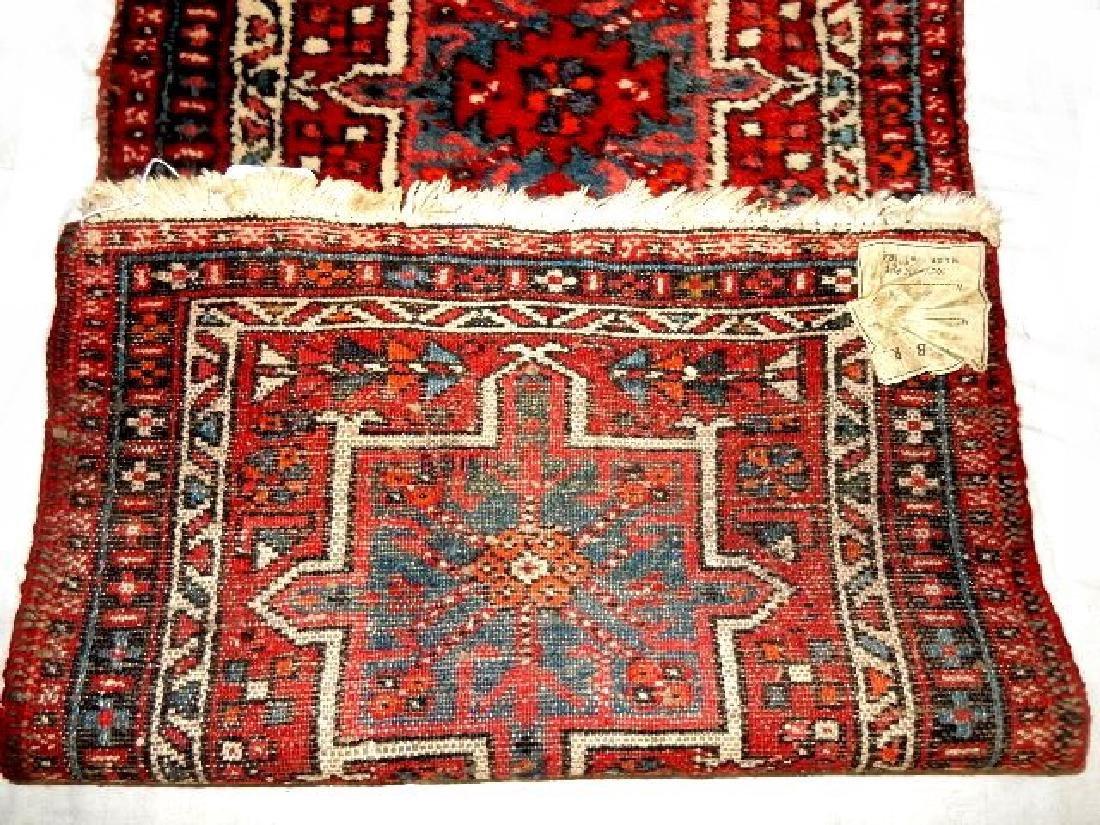 Semi Antique Persian Karajeh Heriz Rug - 7