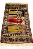 Semiantique Caucasian pictorial area rug