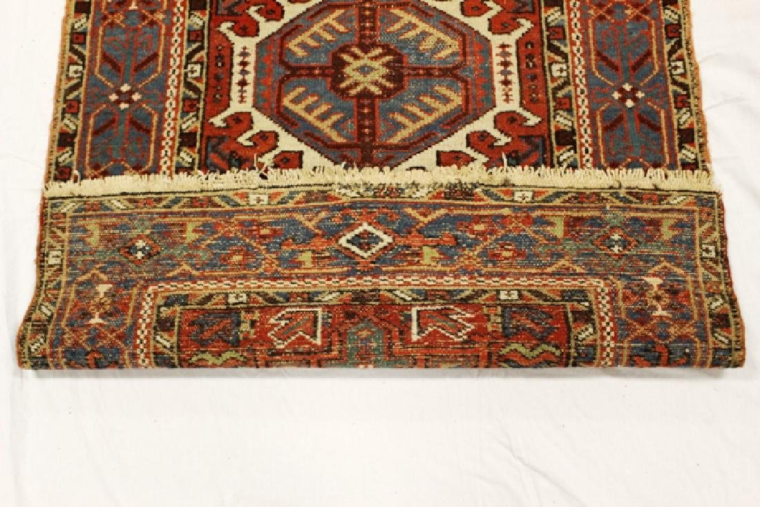 Caucasian semi-antique Kazak style rug - 6