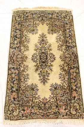 Persian Kerman area rug.