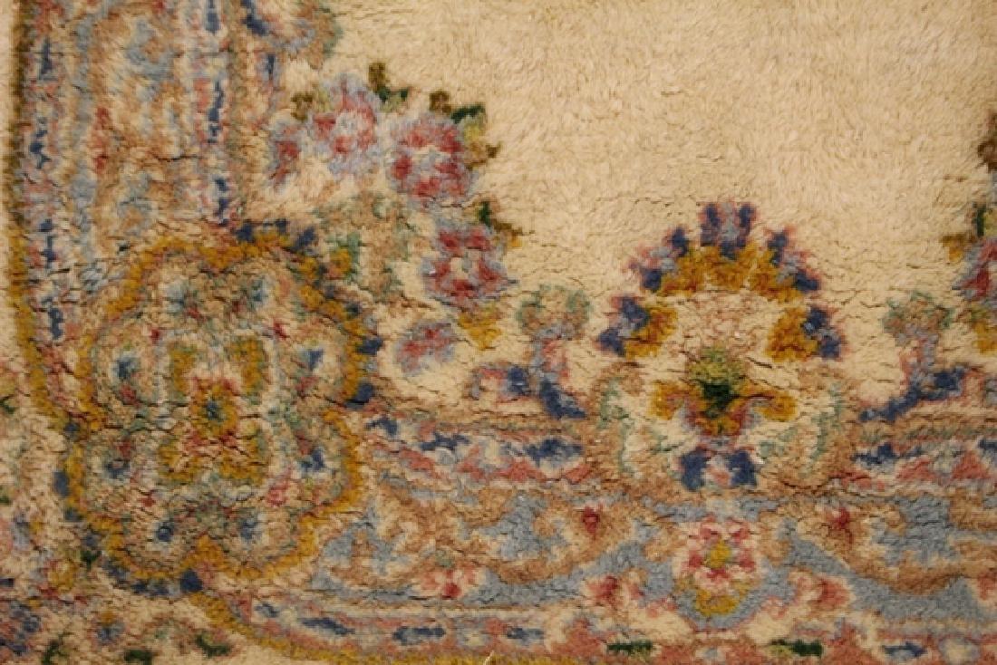 Semi-antique Kerman area rug - 4