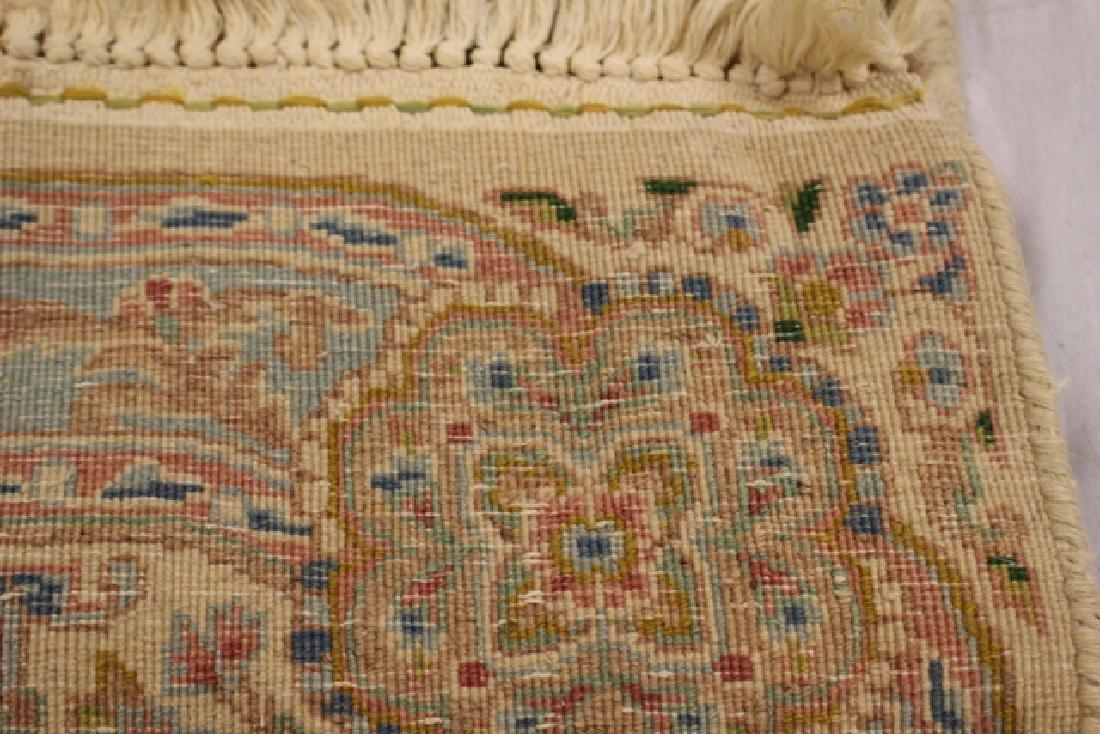 Semi-antique Kerman area rug - 5