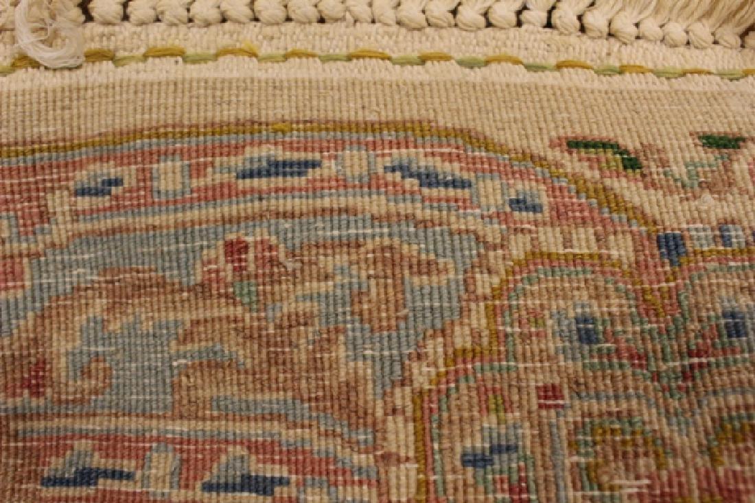 Semi-antique Kerman area rug - 7