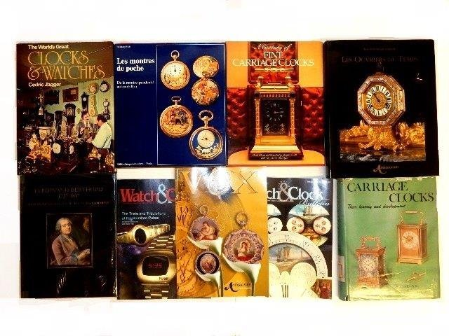 30 Various Clock Books And Magazines