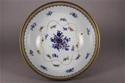19th Century Blue & Gold Decorated Bowl