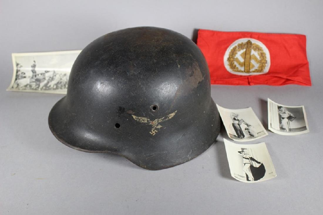German WWII Helmet & Accessaries
