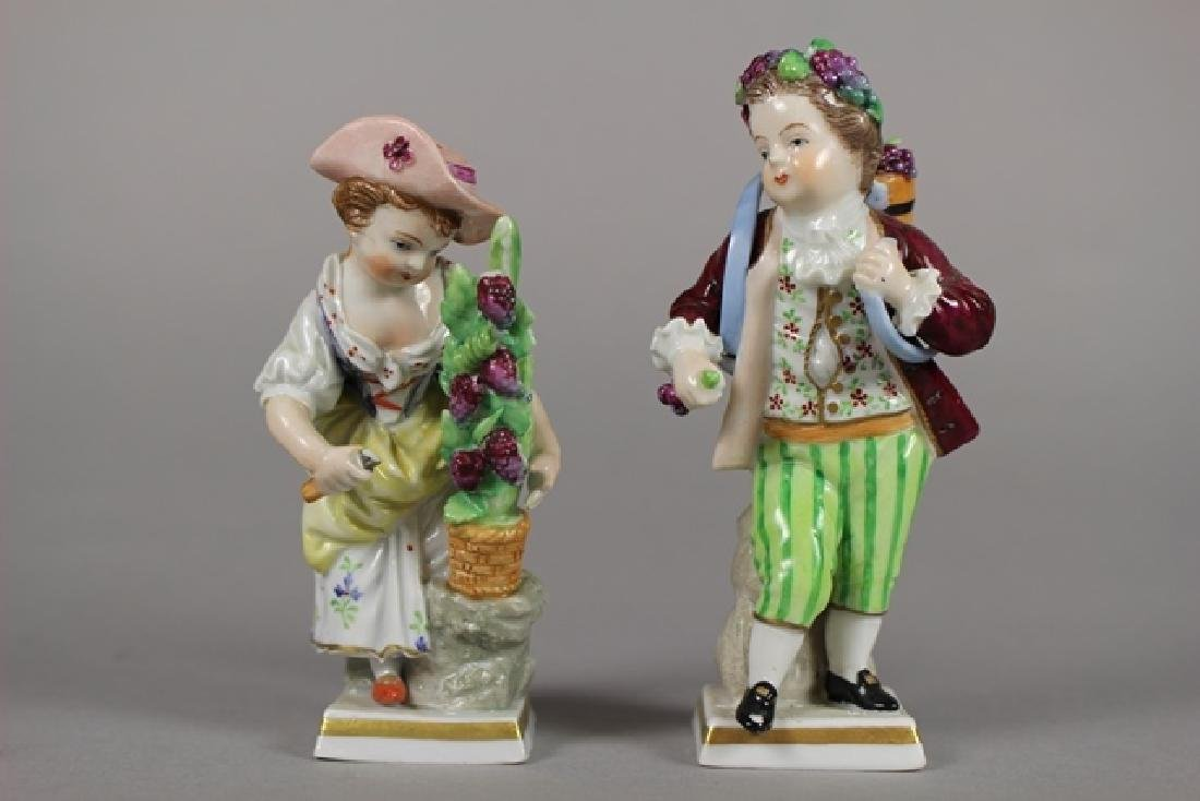 Two French Sitzendorf Porcelain Figurines