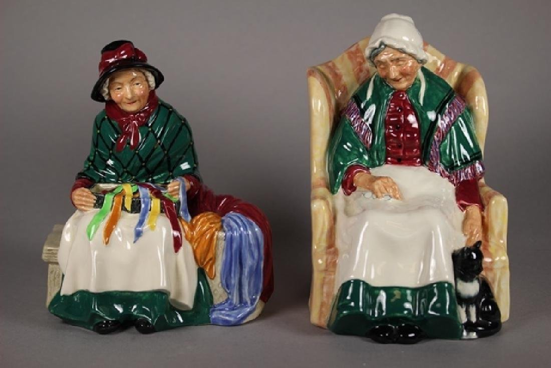 Royal Doulton SILKS AND RIBBONS , FORTY WINKS FIGURINE