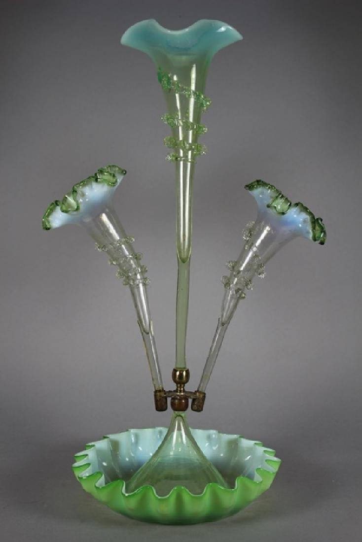 Victorian Epergne with Three Trumpet Branches