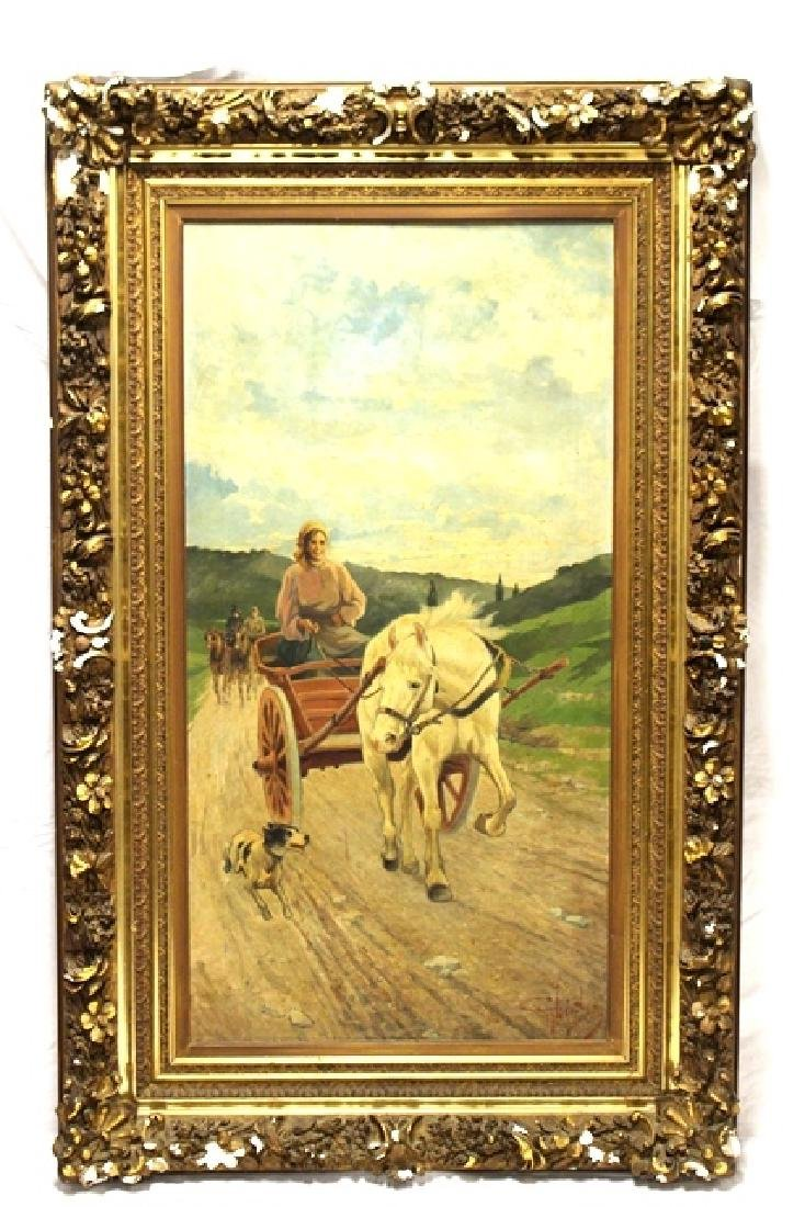 Large 19th C.Signed Hungarian Painting