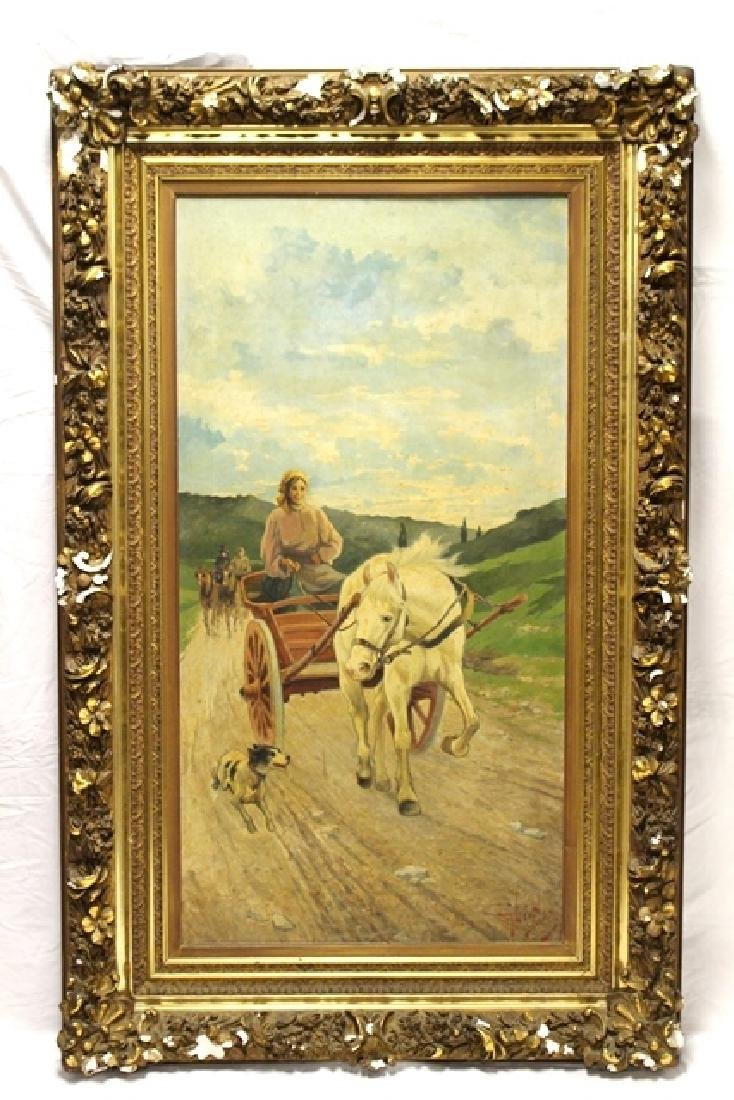 Large 19th C.Signed Hungarian Painting - 2