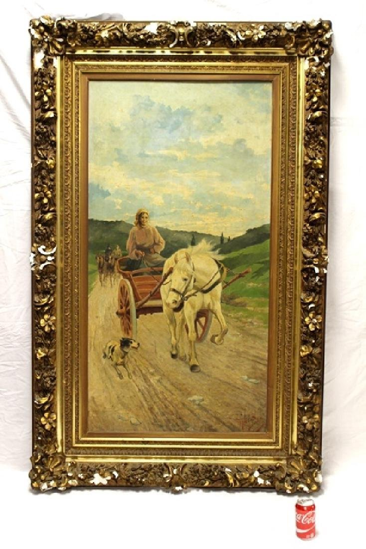 Large 19th C.Signed Hungarian Painting - 4
