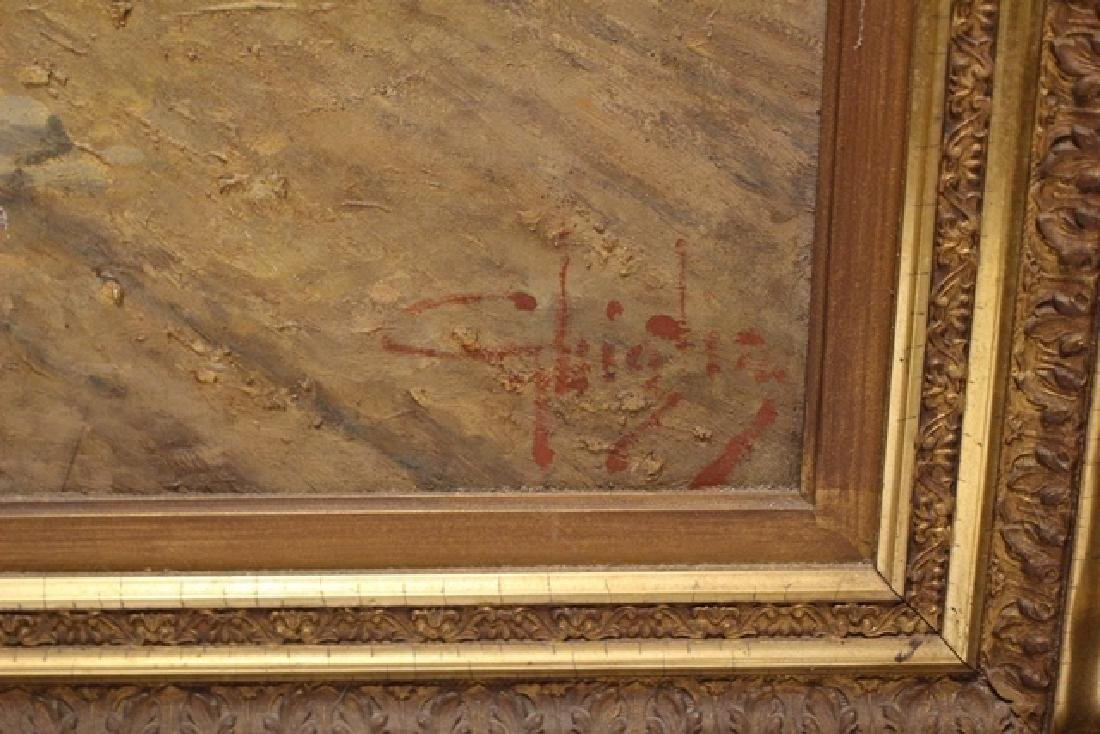 Large 19th C.Signed Hungarian Painting - 6
