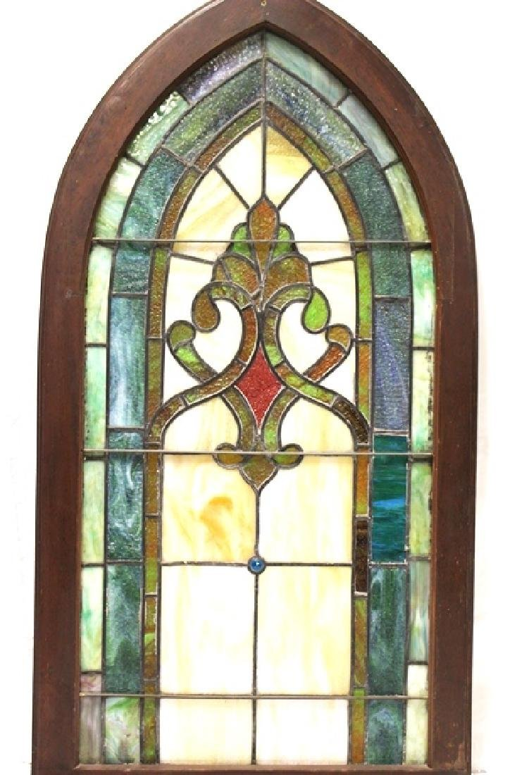 Early 20th Century Stained Glass Panel - 2