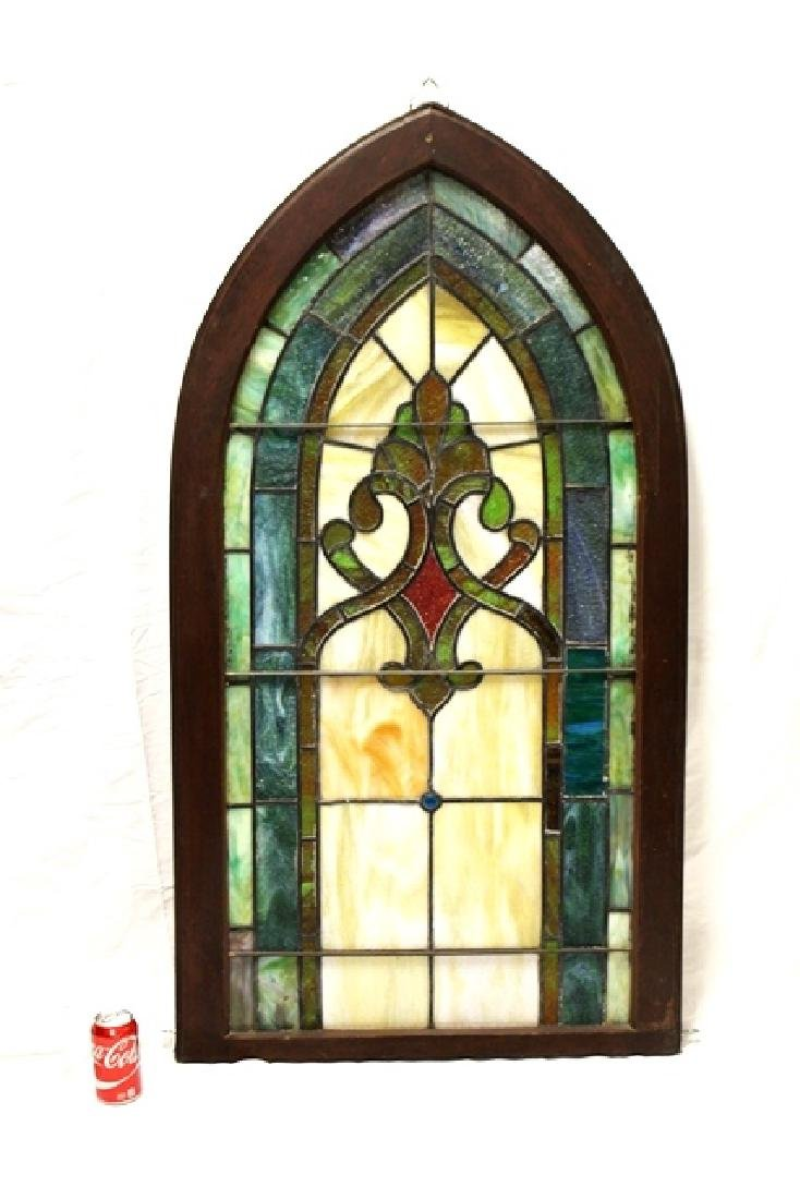 Early 20th Century Stained Glass Panel - 3