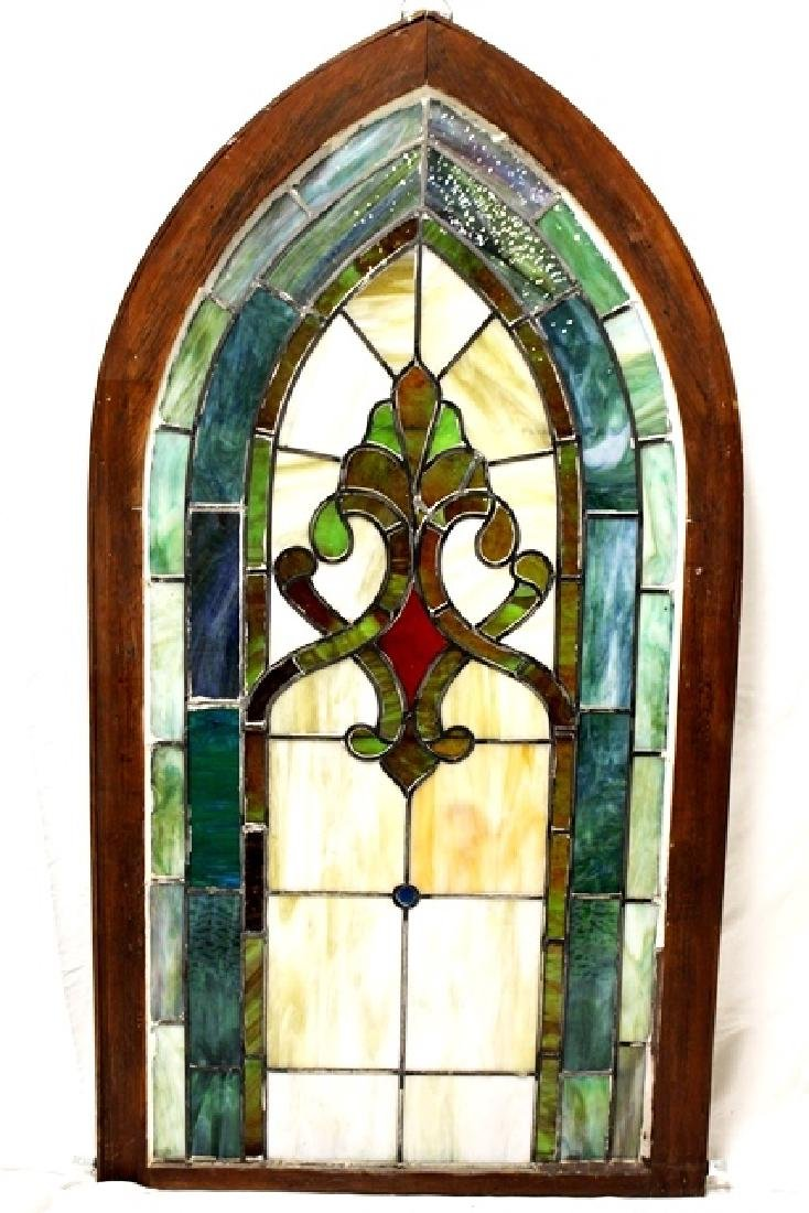 Early 20th Century Stained Glass Panel - 6