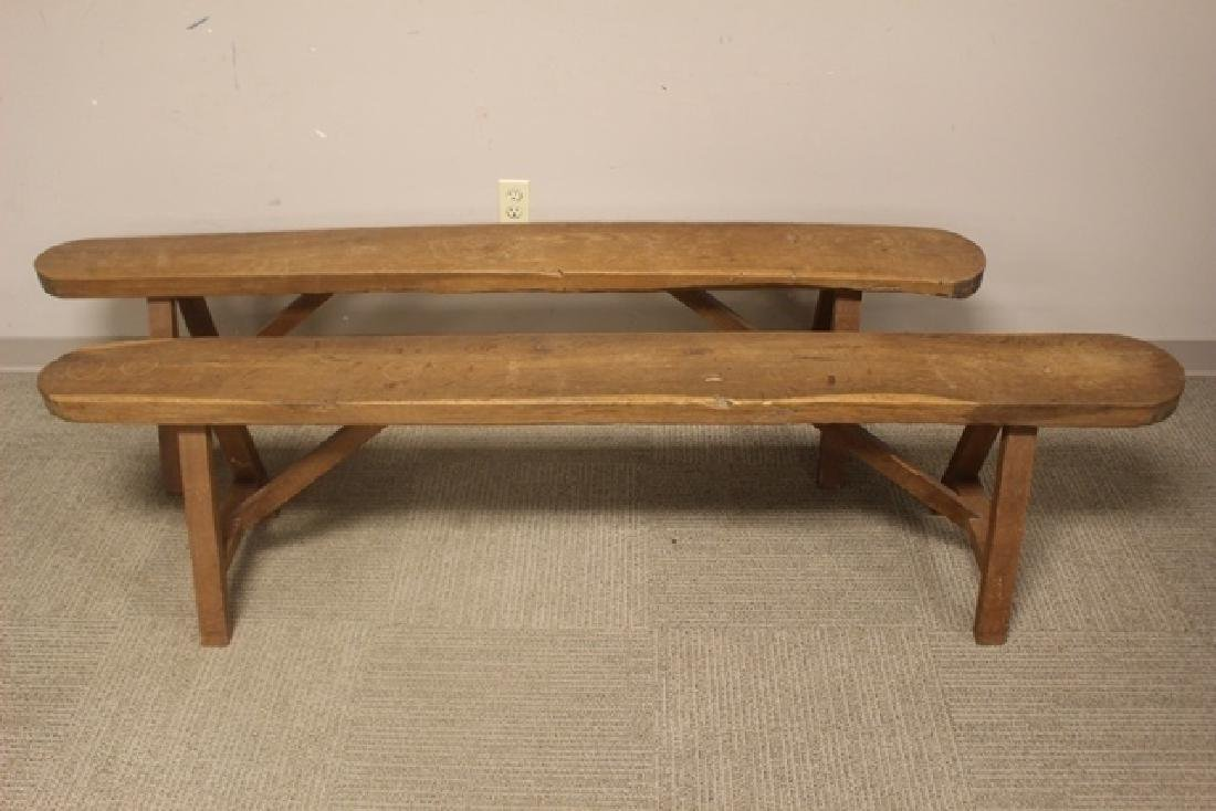 Late 18th Early 19th Century Country Benches