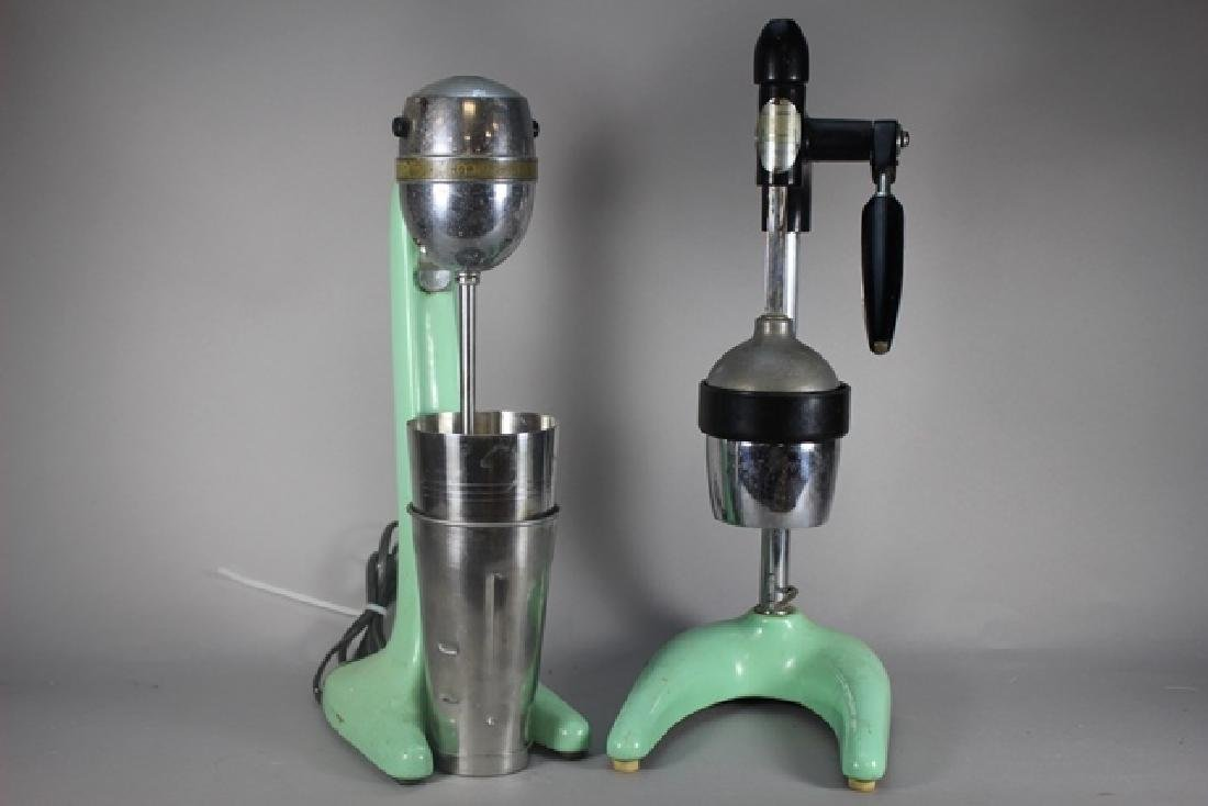 Two Hamilton Beach Malt Mixer And Juicer