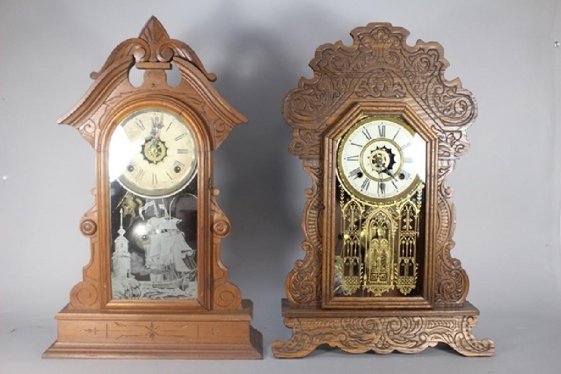 Two Cottage Kitchen Clocks