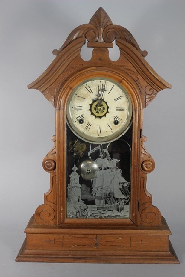 Two Cottage Kitchen Clocks - 5