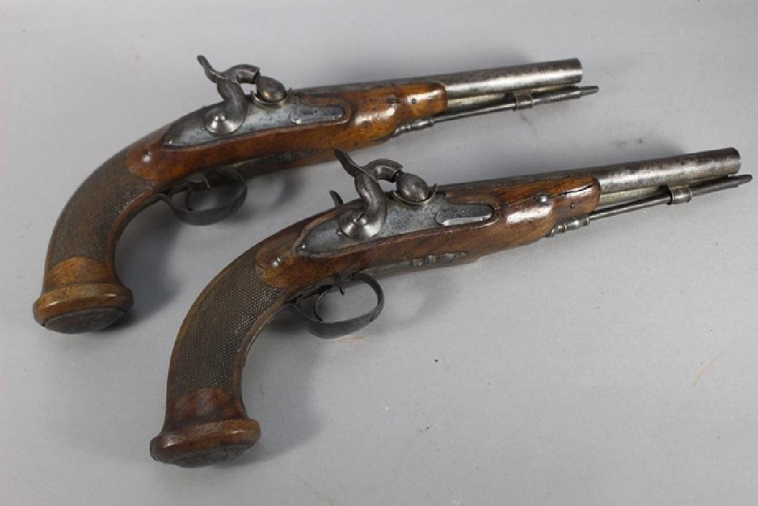 Pair of 19th  English Percussion Dueling Pistols - 2