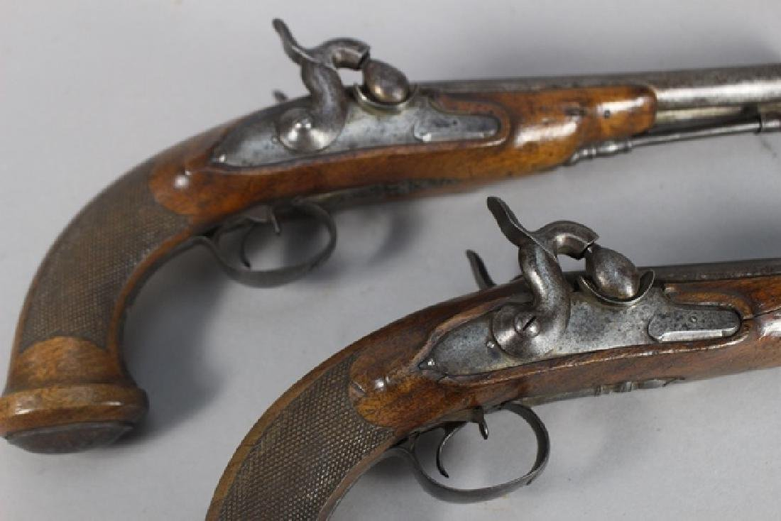 Pair of 19th  English Percussion Dueling Pistols - 3