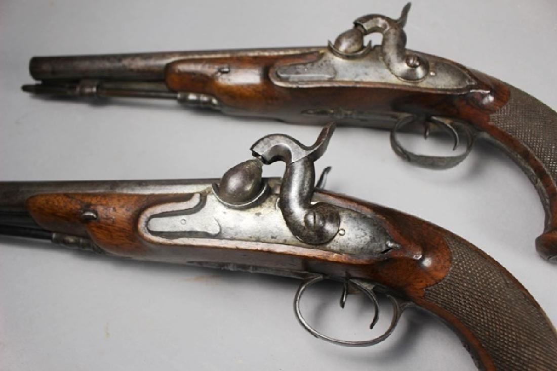Pair of 19th  English Percussion Dueling Pistols - 5